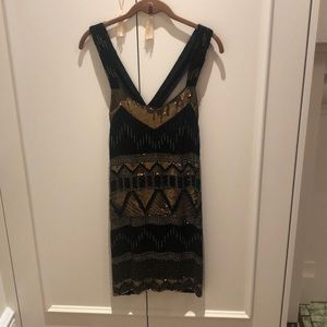 French Connection 20s Style Sequin Dress